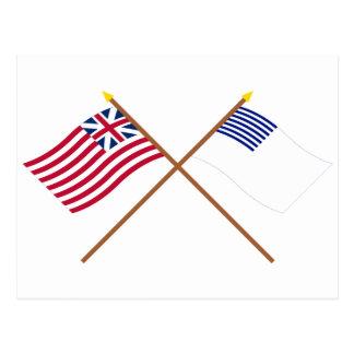 Unión y banderas magníficas cruzadas de Forster Postal