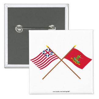 Unión y banderas magníficas cruzadas de Hannover A Pin