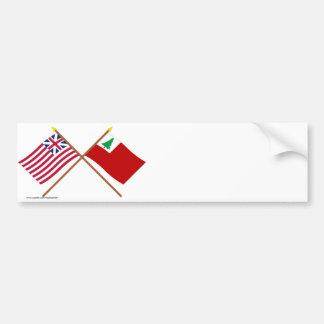 Unión y banderas magníficas cruzadas de Nueva Pegatina Para Auto