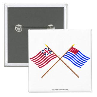 Unión y banderas magníficas cruzadas del sedero de pin