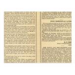 Unión y líneas de ferrocarril pacíficas centrales tarjetas postales