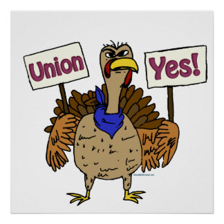Union Yes - Talking Turkey Poster