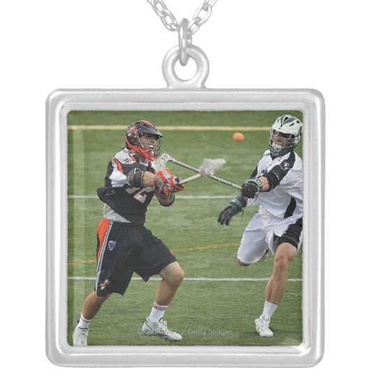 UNIONDALE, NY - AUGUST 06: Max Siebald #42 Silver Plated Necklace