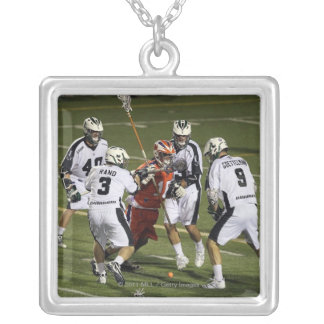 UNIONDALE, NY - AUGUST 13:  Steven Waldeck #16 Silver Plated Necklace