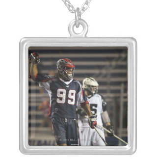 UNIONDALE, NY - JULY 16:  Paul Rabil #99 2 Silver Plated Necklace