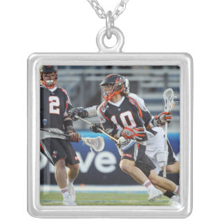 UNIONDALE, NY - JUNE 03:  Billy Bitter #10 Square Pendant Necklace