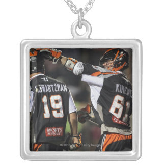 UNIONDALE, NY - JUNE 03:  Terry Kimener #61 and Silver Plated Necklace