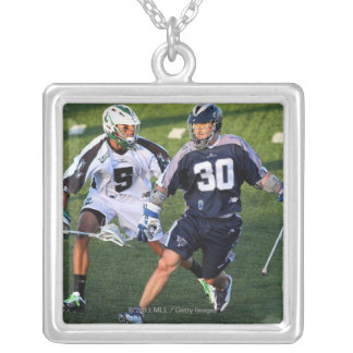 UNIONDALE, NY - MAY 21:  Julian Watts #5 Square Pendant Necklace