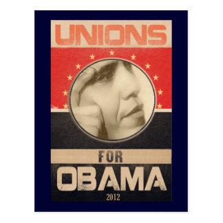 Uniones para el Grunge 2012 de Obama Postales