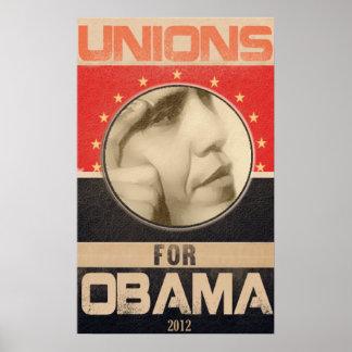 Uniones para el Grunge 2012 de Obama Póster
