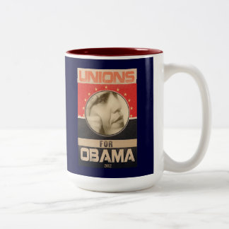 Uniones para el Grunge 2012 de Obama Taza De Café De Dos Colores