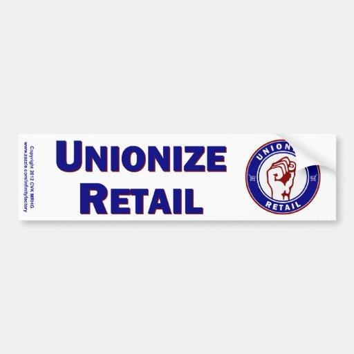 Unionize Retail Car Bumper Sticker
