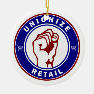 Unionize Retail Double-Sided Ceramic Round Christmas Ornament