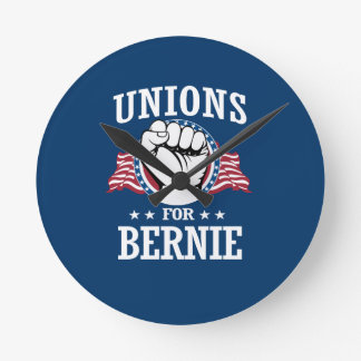 UNIONS FOR BERNIE SANDERS ROUND CLOCK
