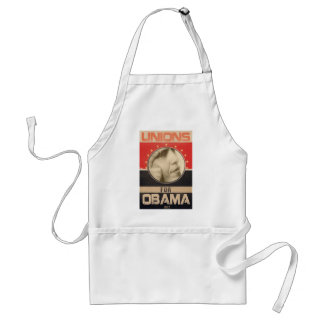 Unions for Obama 2012 Grunge Adult Apron