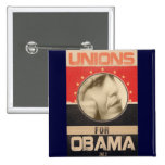 Unions for Obama 2012 Grunge Buttons
