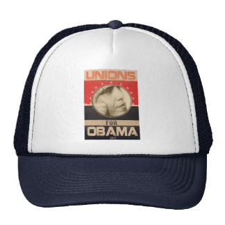 Unions for Obama 2012 Grunge Mesh Hats