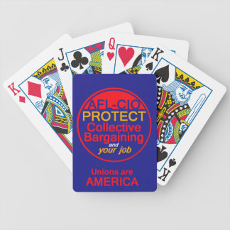 Unions Labor Playing Cards