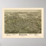 Uniontown, PA Panoramic Map - 1897 Poster