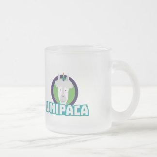 Unipaca Unicorn Alpaca Z67aj Frosted Glass Coffee Mug