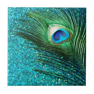 Uniqe Aqua Peacock Ceramic Tile
