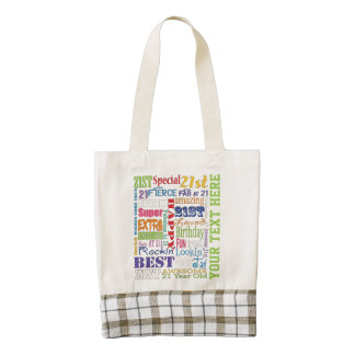 Unique 21st Birthday Party Personalized Gifts Zazzle HEART Tote Bag