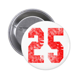 Unique 25th Birthday Gifts Pinback Button