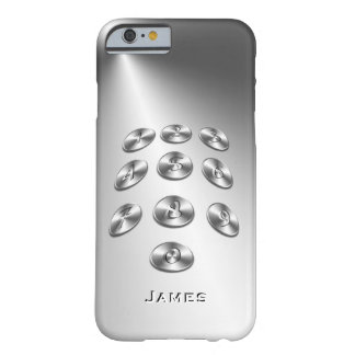 UNIQUE 3D TEXT POPULAR METAL TEMPLATE ASTON'S BARELY THERE iPhone 6 CASE