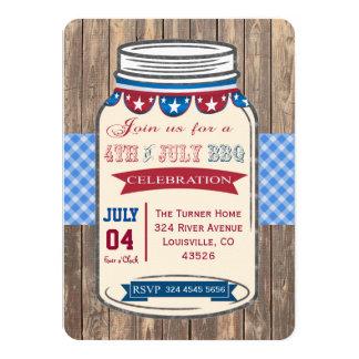 Unique 4TH OF JULY Mason Jar BBQ Old Barn Invite