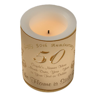 Unique 50th Anniversary Gift Ideas, LED Candles