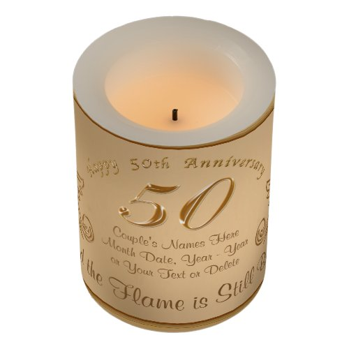 Unique 50th Anniversary Gift Ideas LED Candles