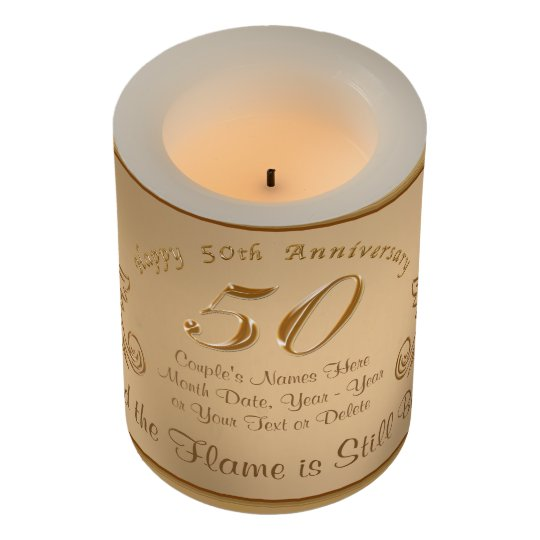 50 Sure To Please Gift Ideas: Unique 50th Anniversary Gift Ideas, LED Candles