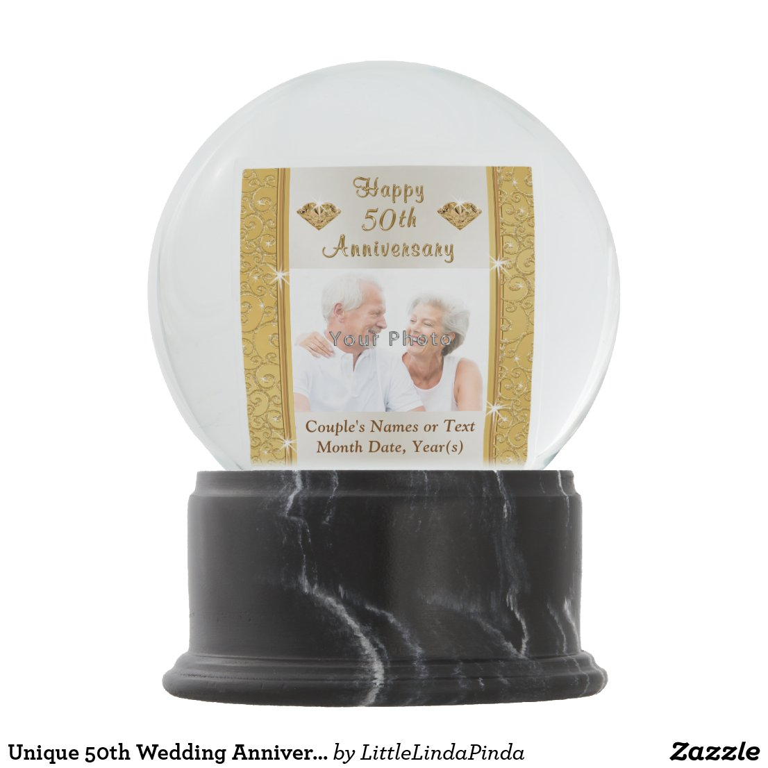 Unique 50th Wedding Anniversary Gifts, Snow Globes