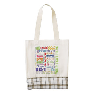 Unique  60th Birthday Party Personalized Gifts Zazzle HEART Tote Bag