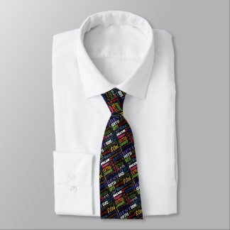 Unique  80th Birthday Party Personalized Gifts Neck Tie