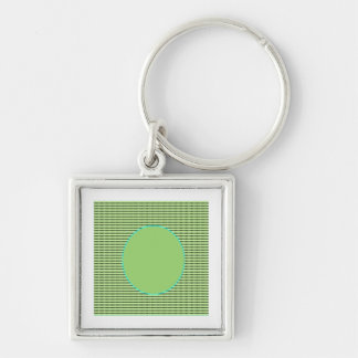 Unique AAA Rated - Acrylic Designer Green Disc Keychain