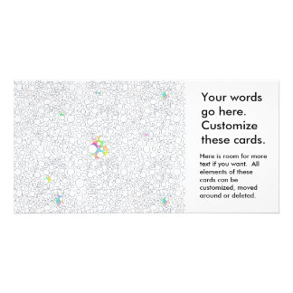 Unique abstract art original drawing stuff of life picture card