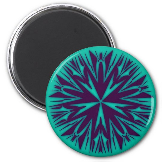 Unique Abstract Art Round Magnet