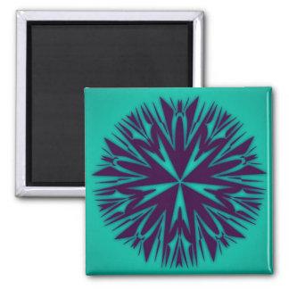 Unique Abstract Art Square Magnet