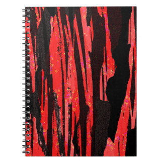 Unique Abstract Bold Red and Black Design Notebook