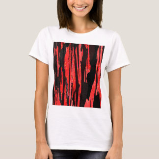 Unique Abstract Bold Red and Black Design T-Shirt