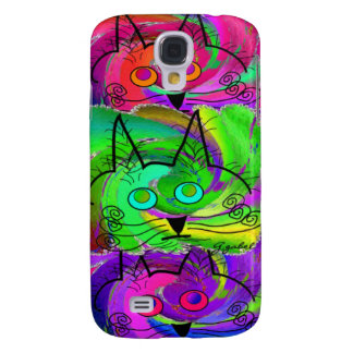 Unique Abstract Cat Face Art Gifts Samsung Galaxy S4 Case