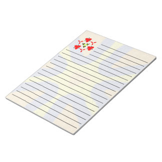 Unique abstract colorful pattern notepad