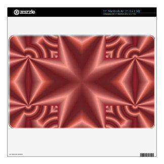 Unique abstract cross pattern decals for MacBook