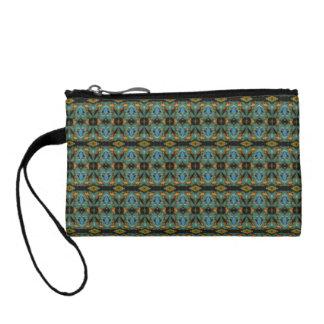 Unique abstract dark pattern coin purse