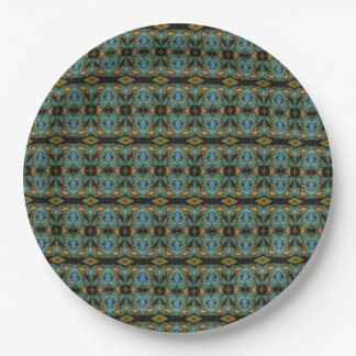 Unique abstract dark pattern 9 inch paper plate