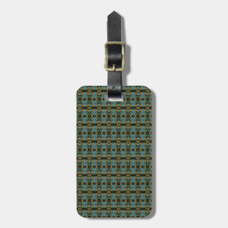 Unique abstract dark pattern tag for bags