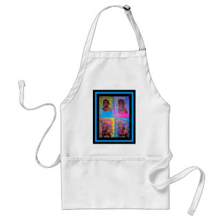 Unique Abstract painting of colorful images Aprons