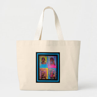 Unique Abstract painting of colorful images Jumbo Tote Bag