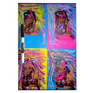Unique Abstract painting of colorful images Dry-Erase Boards